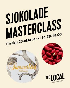 Sjokolade Masterclass @ The Local Fornebu | Akershus | Norge