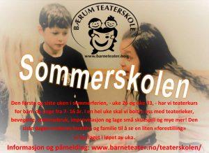 Sommerskole @ Bærum Teaterskole