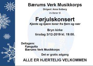 Kom i Julestemning med Bærums Verk Musikkorps og Fjøsgutta @ Bryn Kirke
