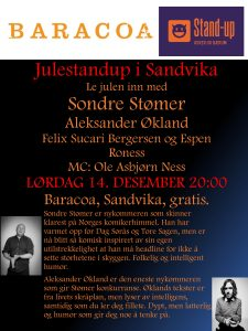 Gratis stand up @ Baracoa Sandvika